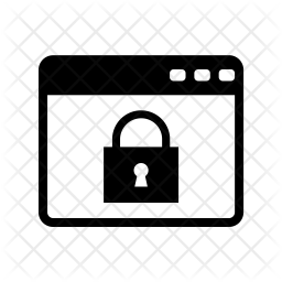 Lock website Glyph Icon