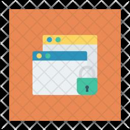Lock Window Flat Icon