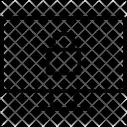 Locked Line Icon