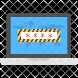 Locked Laptop Icon