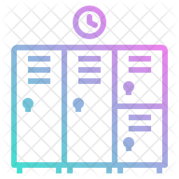 Locker Gradient Icon