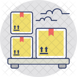 Logistic Storage Colored Outline Icon