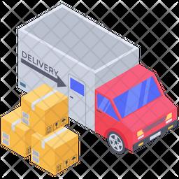 Logistics Delivery Truck Icon