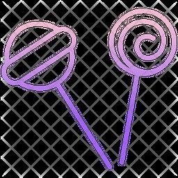Lolipop Gradient Icon