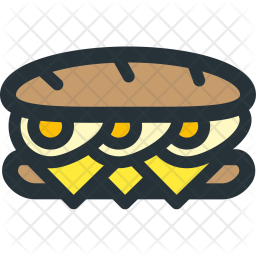 Long, Sandwich Icon