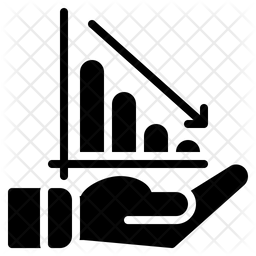 Loss Chart Glyph Icon
