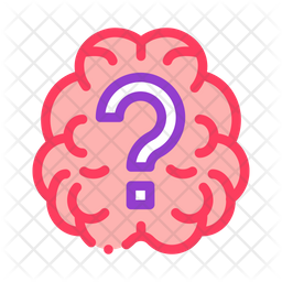 Lost Brain Icon Of Colored Outline Style Available In Svg Png Eps Ai Icon Fonts