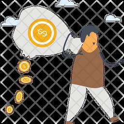 Lost Money Icon