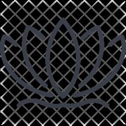 Lotus Line Icon