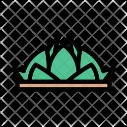 Lotus Temple Icon