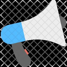 Loudspeaker Flat Icon