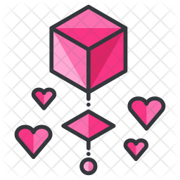 Love Colored Outline Icon
