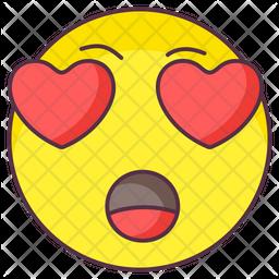 Love Amazed Emoji Emoji Icon