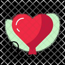 Love Balloon Flat Icon