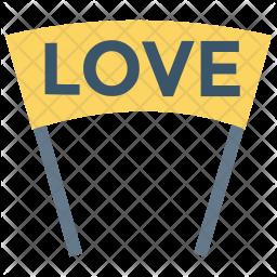Love banner Icon