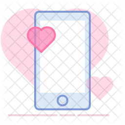 Love chat Colored Outline Icon