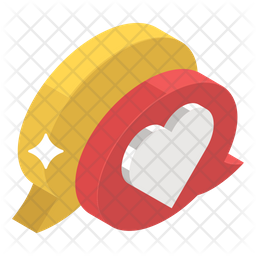 Love Chat Flat Icon