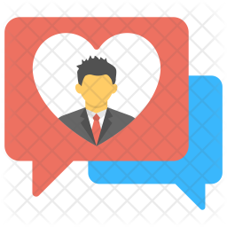 Love Chat Logo Icon