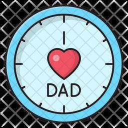 Love Dad Clock Icon