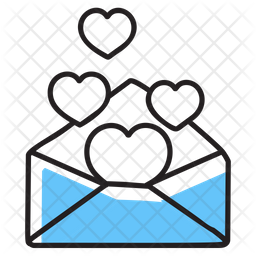Love Letter Colored Outline Icon