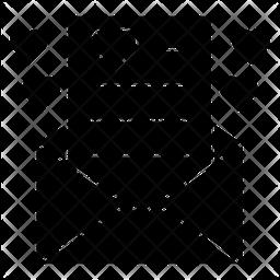 Love Letter Glyph Icon
