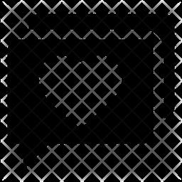 Love Message Glyph Icon