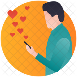 Love Message Rounded Icon
