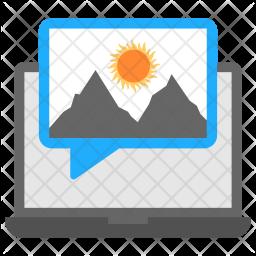 Love Messaging Flat  Logo Icon