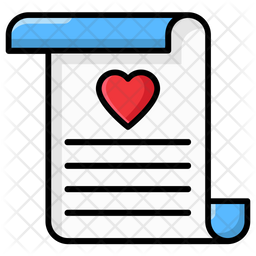 Love Notes Colored Outline Icon