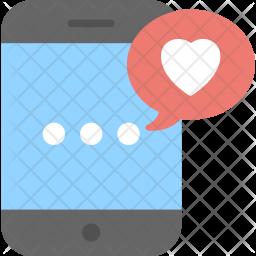 Love Screen Effect Flat Icon