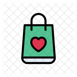 Love Shopping Icon Of Colored Outline Style Available In Svg Png Eps Ai Icon Fonts