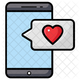 Love Sms Colored Outline Icon