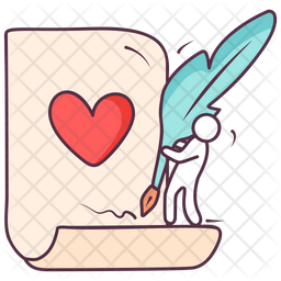Love Writing Icon