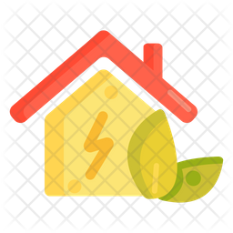 Low Energy House Colored Outline Icon
