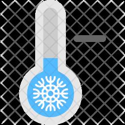 Low Temperature Flat Icon