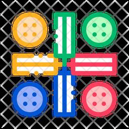 Ludo Colored Outline Icon