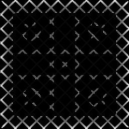 Ludo Glyph Icon