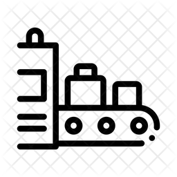 Luggage X Ray Machine Line Icon