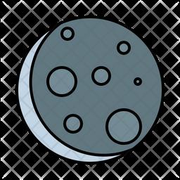 Lunar Eclipse Colored Outline Icon