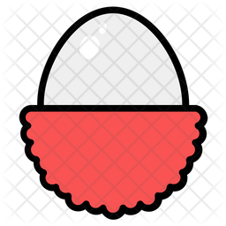 Lychee Colored Outline Icon
