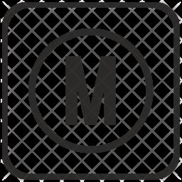 M Glyph Icon
