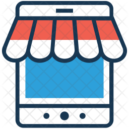 M-Commerce Colored Outline Icon