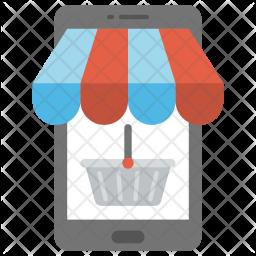 M-commerce Flat Icon