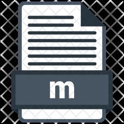 M file Colored Outline Icon