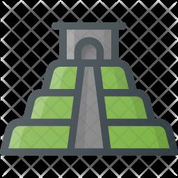 Machu Colored Outline Icon