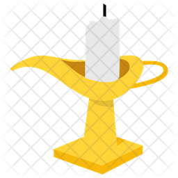 Magic Lamp Flat Icon