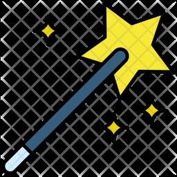 Magic Stick Colored Outline Icon
