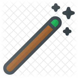 Magic wand Colored Outline Icon