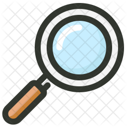 Magnifier Colored Outline Icon
