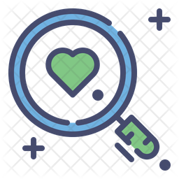 Magnifying Glass With Love Icon